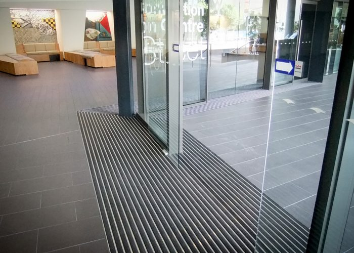 DURAMAT in use with automatic doors
