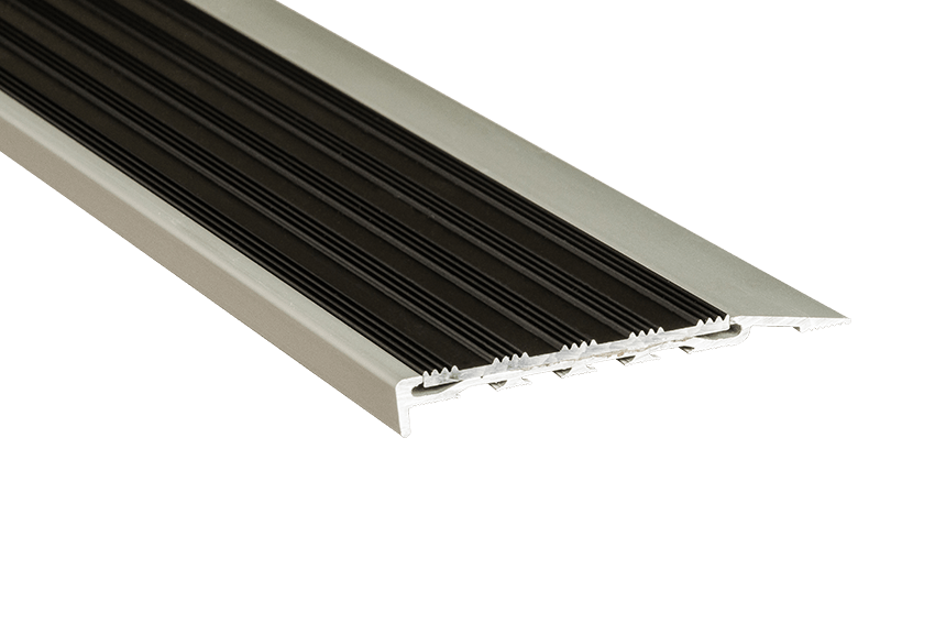 221115 - Venturi Aluminium Black Striped Insert SM Silver Nosing