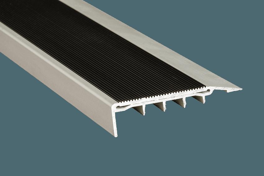 221414 - Venturi Aluminium Black Corrugated Insert CU Silver Nosing