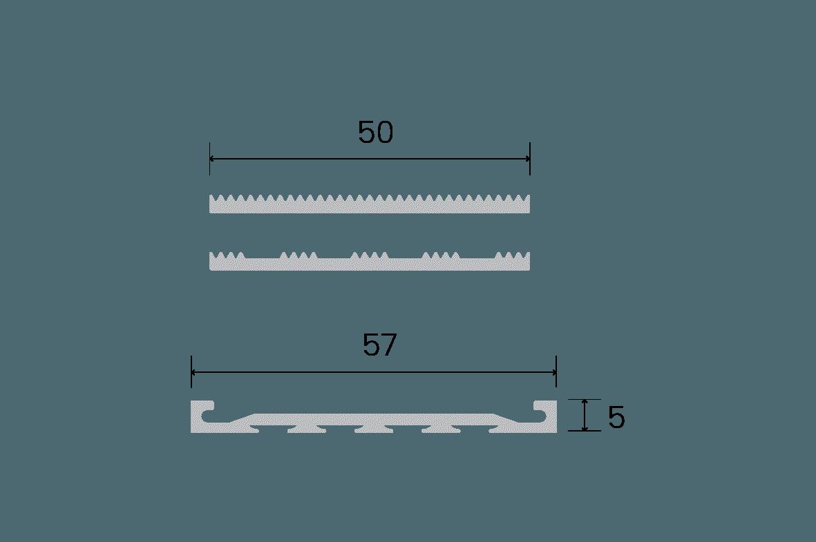 Venturi Aluminium Recessed Size