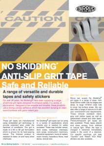 Birrus NO SKIDDING Grit Tapes Datasheet