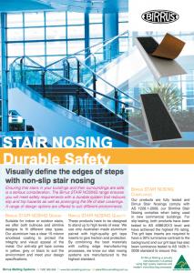 Stair Nosings Datasheet